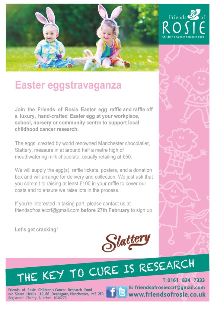 Friends of Rosie Easter egg fundraiser details